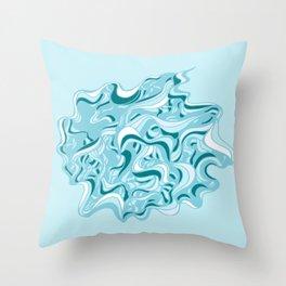 Urchin Blue Throw Pillow