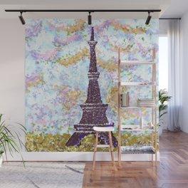 Eiffel Tower Pointillism by Kristie Hubler Wall Mural