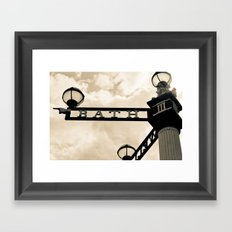 The Only Way is Bath Framed Art Print