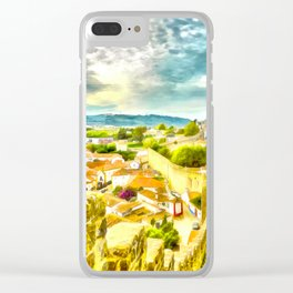 Obidos, small and authentic fortified town in Portugal Clear iPhone Case