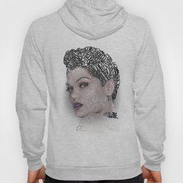 Typographic Portrait Jessica Cornish Hoody