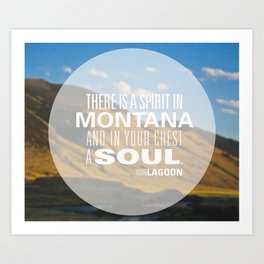Spirit in Montana  Art Print