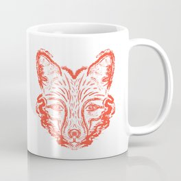 Muzzle foxes. Fox with sideburns, sketch strokes. Coffee Mug
