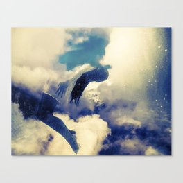 Woman and sky Canvas Print