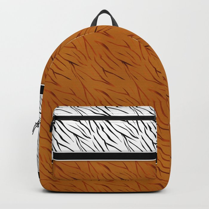 Yellow black tiger pattern . Backpack