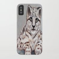 snow leopard iPhone & iPod Cases featuring Snow Leopard by AbuMeowww