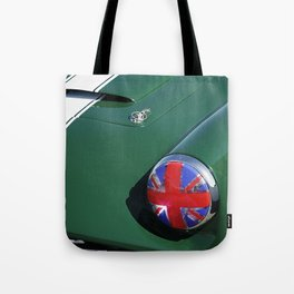 Union Jack Headlight Tote Bag