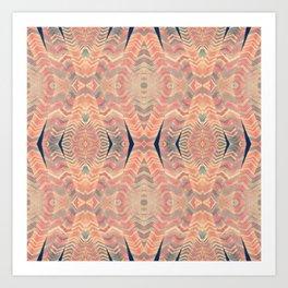Tribal Pattern Turbans Art Print