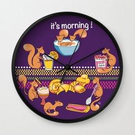 It's morning !  Wall Clock