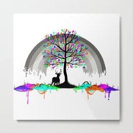 Colorless Raimbow Metal Print