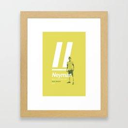 Neymar Brazil 10 Framed Art Print