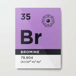 Periodic Element B - 35 Bromine Br Metal Print