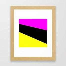 Angelica . Lemon , raspberry , black Framed Art Print