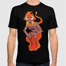 Demon MEDIUM Black Mens Fitted Tee