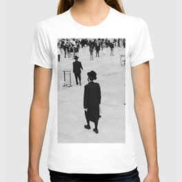 Men walking to The Western Wall in the Old City, Jerusalem, Israel | Holy-place, religious jewish men talking | Fine art print photography  T-shirt