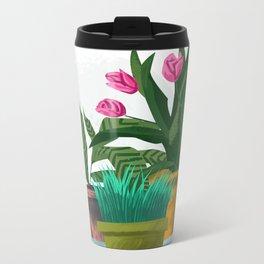 Plant Pots Metal Travel Mug