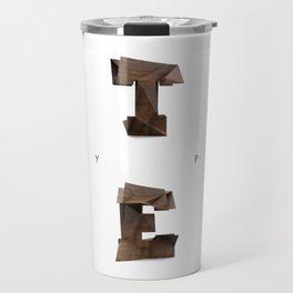 Wood type Travel Mug