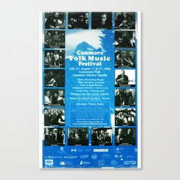 27. Canmore Folk Music Festival (2004) Canvas Print