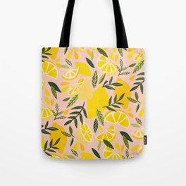 Lemon Blooms – Blush Palette Tote Bag