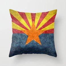 Arizona state flag - vintage retro style Throw Pillow
