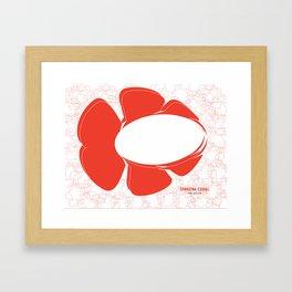 SPAKONA CORAL: see and be Framed Art Print