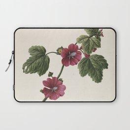 M. de Gijselaar - Twig with purple flowers (1830) Laptop Sleeve