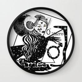 Aries - Zodiac Sign Wall Clock