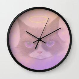 Cosmic Cat - Angel Wall Clock
