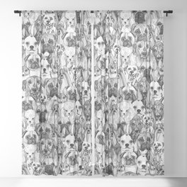 just dogs Sheer Curtain