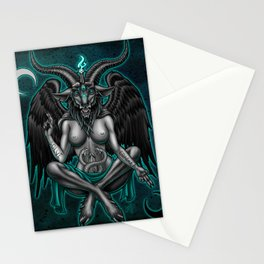 Baphomet (Teal) Stationery Cards