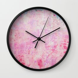 abstract vintage wall texture - pink retro style background Wall Clock