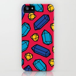 Bright Gems Pattern iPhone Case