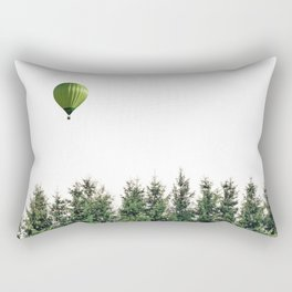 Float Away - Hot Air Balloon Forest Photograph Rectangular Pillow