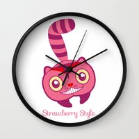 cheshire Wall Clocks featuring Cheshire by gabriela