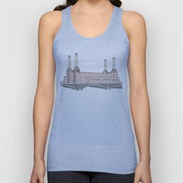 Battersea Power Station London Unisex Tank Top