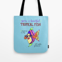 Leslie Knope Compliments: Tropical Fish  Tote Bag