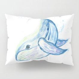 Cute whale watercolor Pillow Sham