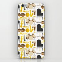 mortal instruments iPhone & iPod Skins featuring Jazz instruments by Ana Linea