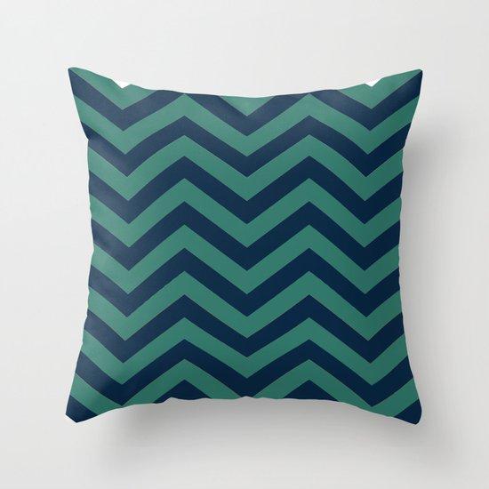 3D in Ocean Tones Throw Pillow