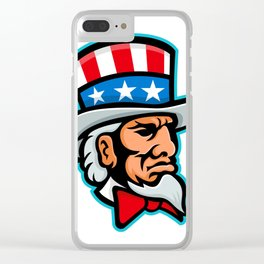 Uncle Sam Mascot Clear iPhone Case