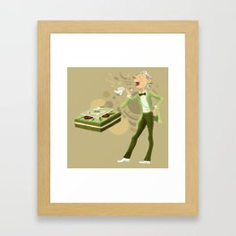 Green Tea Opera cake Framed Art Print