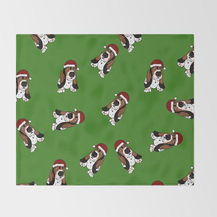 A Basset Full of Christmas Throw Blanket