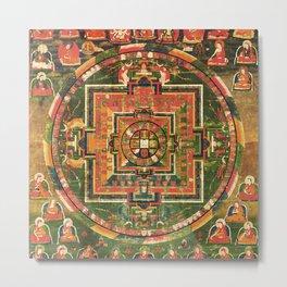 Mandala of Vairochana Buddha Sarvavid Metal Print