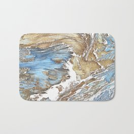 Woody Silver Bath Mat
