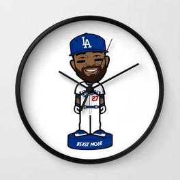 """THE VICTRS """"The Bison"""" Bobble Toon Wall Clock"""