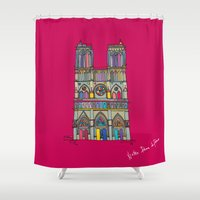 architecture Shower Curtains featuring Architecture by PINT GRAPHICS