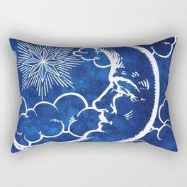 Moon vintage blue Rectangular Pillow