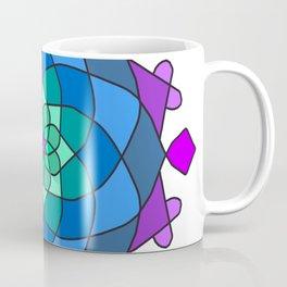 Mandala in blue and pink colors Coffee Mug