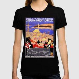 Vintage Simplon Orient Express London Constantinople T-shirt