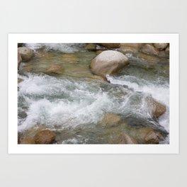 River in Japan - Stones in Water - Rocks in Wild Water - Wall Art Photography Art Print